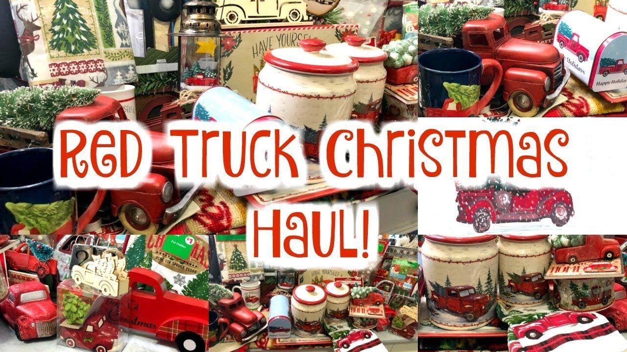 Red Truck Christmas Decor Haul Dollar General Walmart Dollar