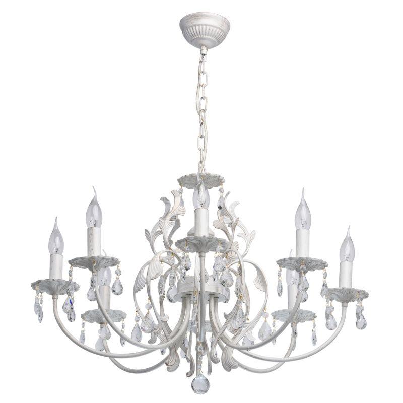 Kerzen Kronleuchter Shabby Chic Klassisch 8-flammig MW-Light - leuchten fürs wohnzimmer