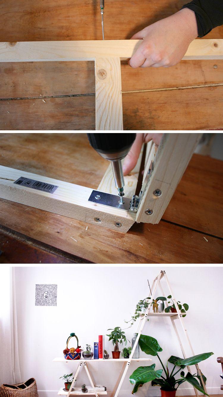 Fabriquer Une Étagère Pour Plantes diy : fabriquez une étagère échelle pour mettre en valeur