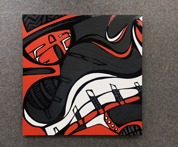 Abstract Sneaker Paintings by Max Flugrath 41bb8a2d7