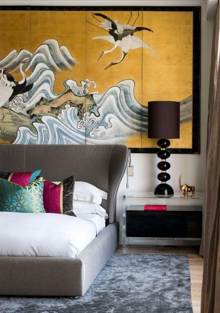 industrial-chic-luxus-loft-wohnung-schlafzimmer-wandgestaltung, Schlafzimmer entwurf
