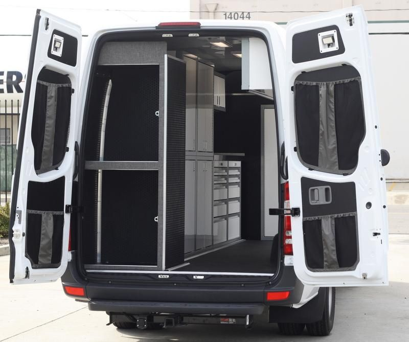 07 Sprinter Van Rear Door Stuff Bag Complete Kit Sprinter Van Sprinter Camper Van Conversion Diy