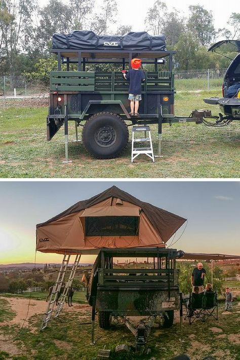 Rooftop Tent Cvt Mt Mckinley On A Converted Military