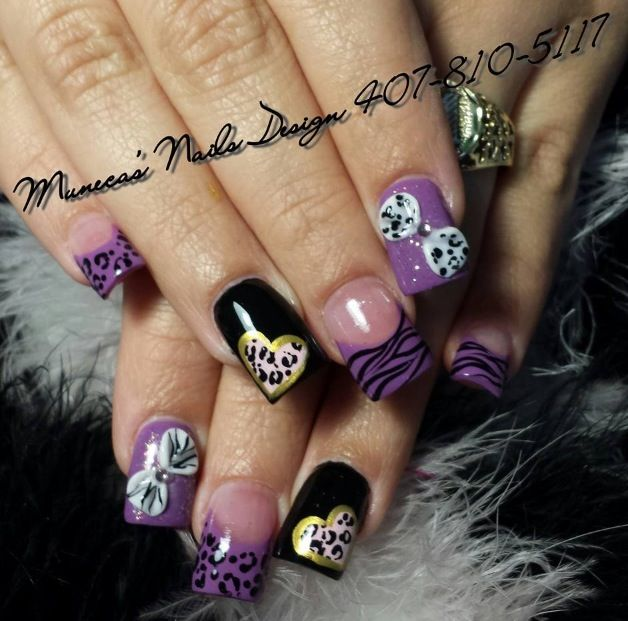 Acrylic nails by Carmen Enid Pedraza