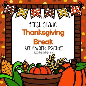 This fun Thanksgiving Break packet includes a fiction and nonfiction Thanksgiving themed comprehension passage, word work, writing and math activities. Make sure your kiddos are growing their brains over break with this fun home learning packet!Common Core Aligned!No Prep!