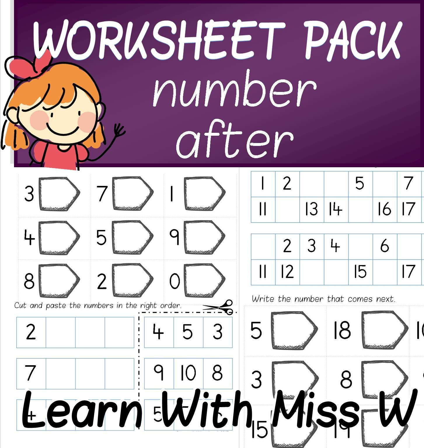 6 Worksheets To Explore The Concept Of The Number After Activities Include Fill In The Missing Numb Literacy And Numeracy Teaching Numbers Kindergarten Math [ 1535 x 1453 Pixel ]