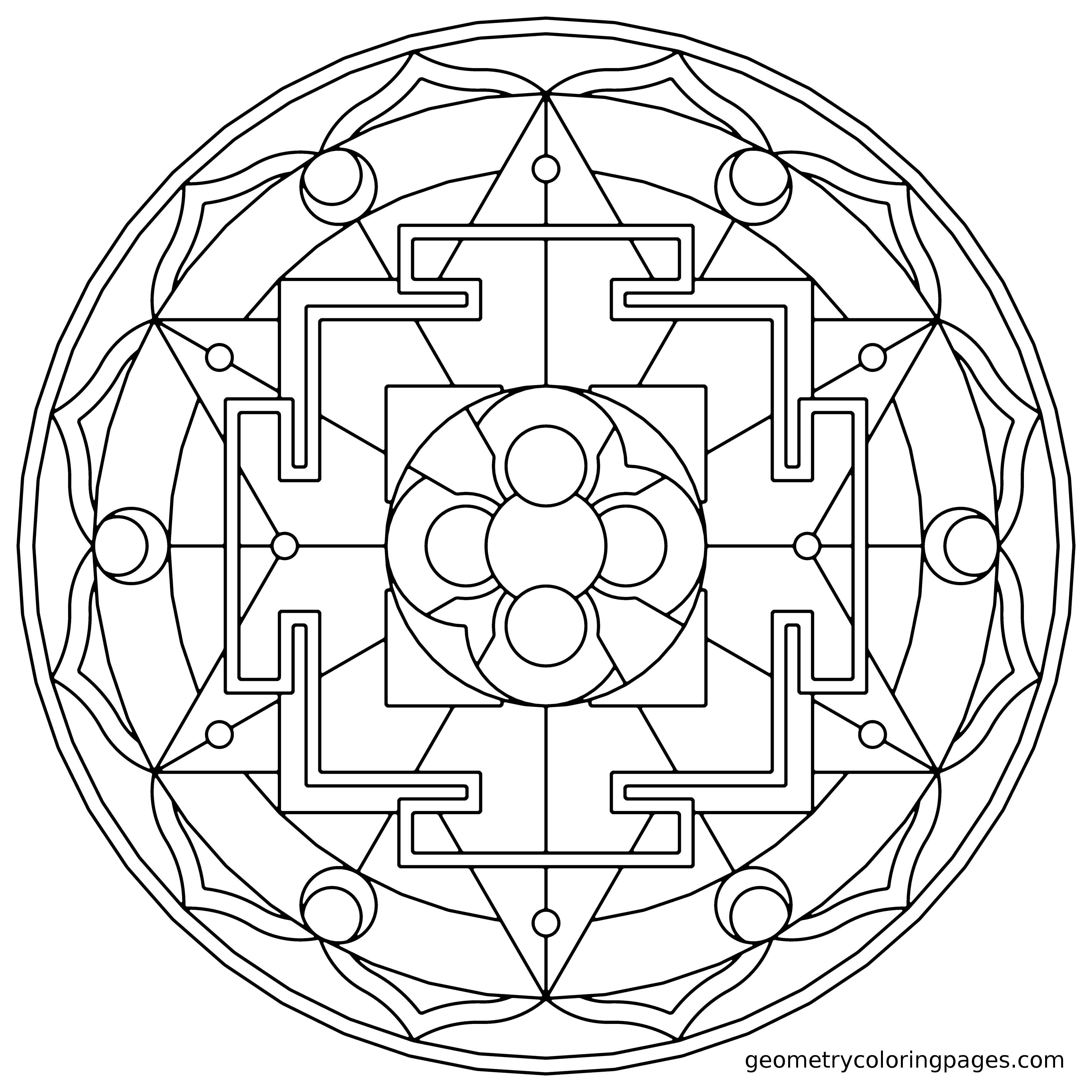 Mandala Coloring Page, Sacred Rooms from geometrycoloringpages.com ...