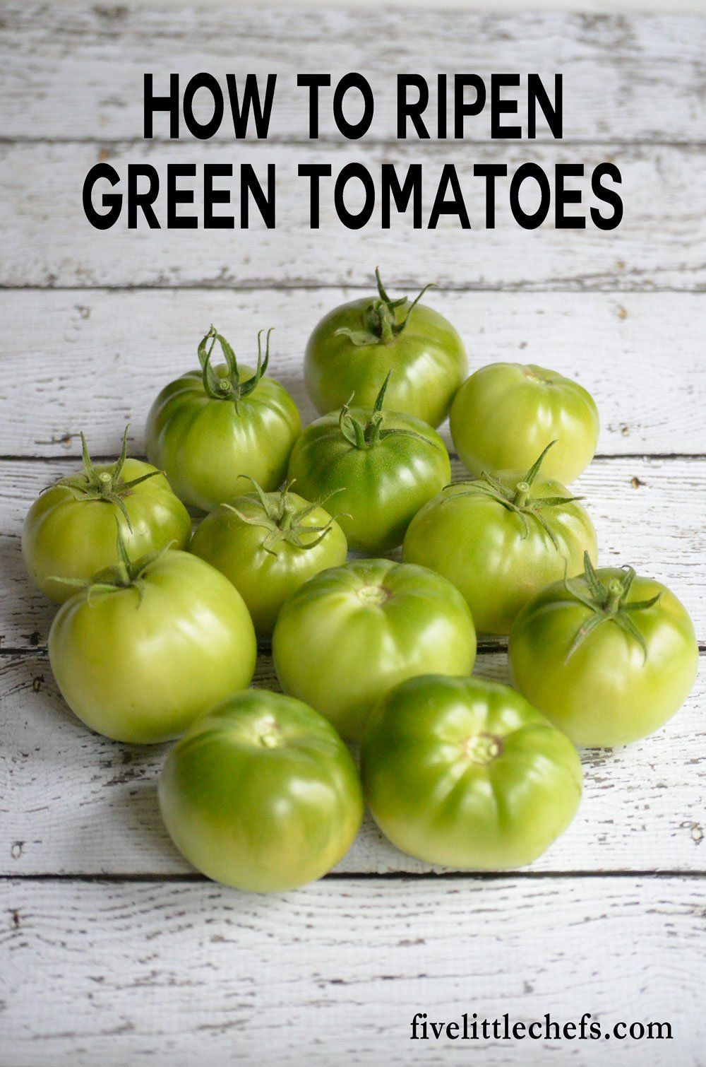 How to Ripen Green Tomatoes Ripen green tomatoes, Green