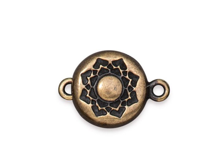 Rose Gold Plated Small Magnetic Clasps Round Pack of 4