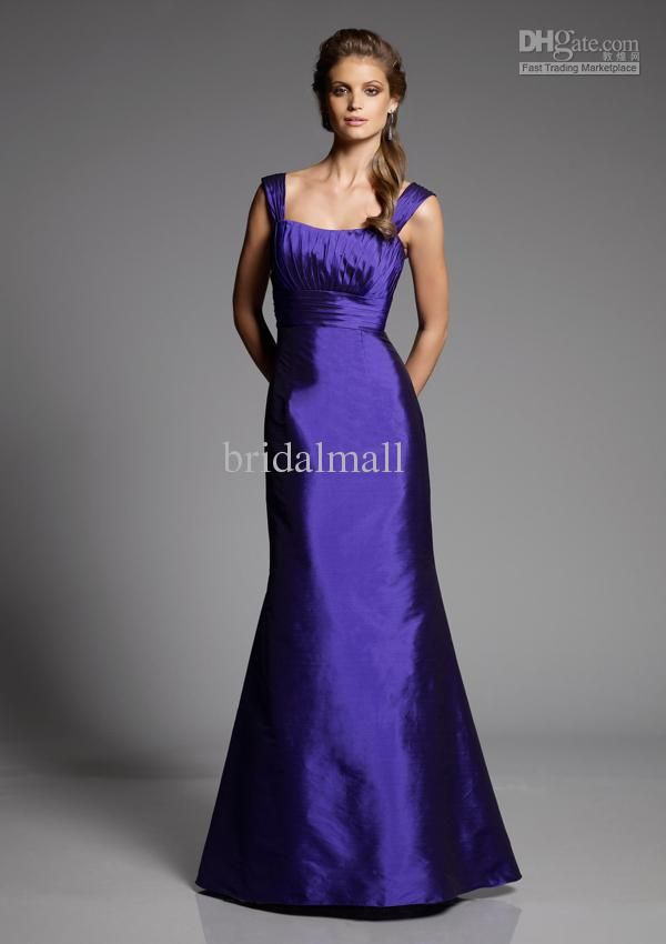 purple bridesmaid gowns   purple bridesmaid dress/full length ...