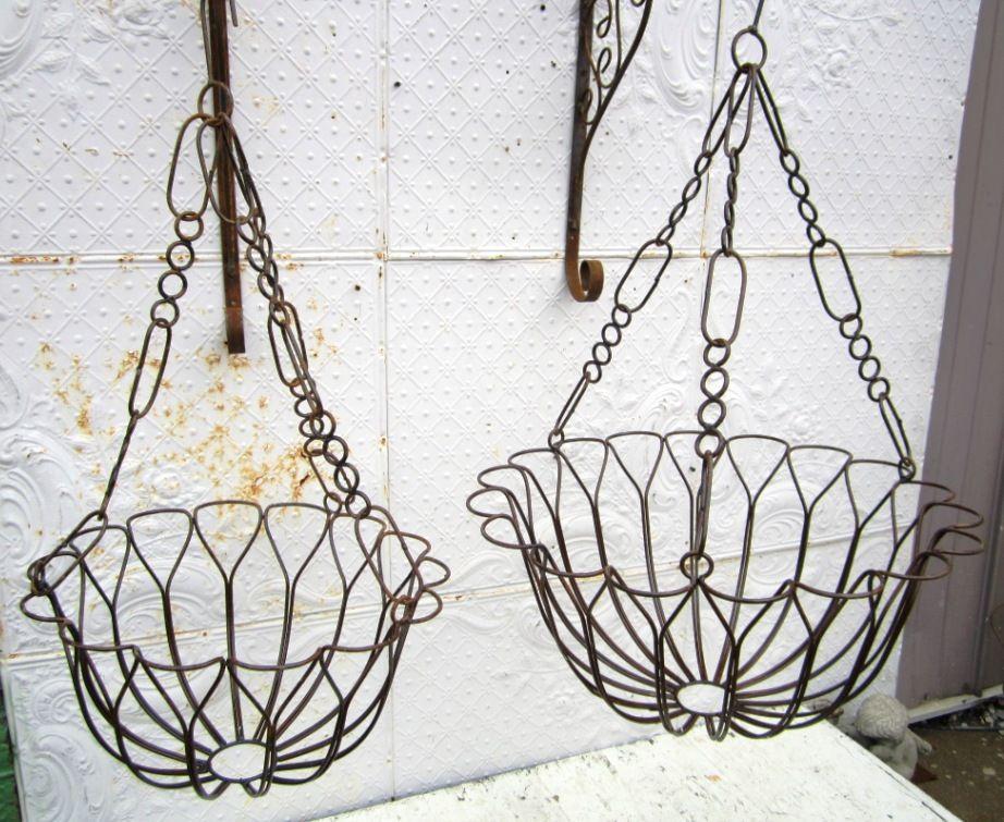 Wrought Iron Daphne Hanging Baskets