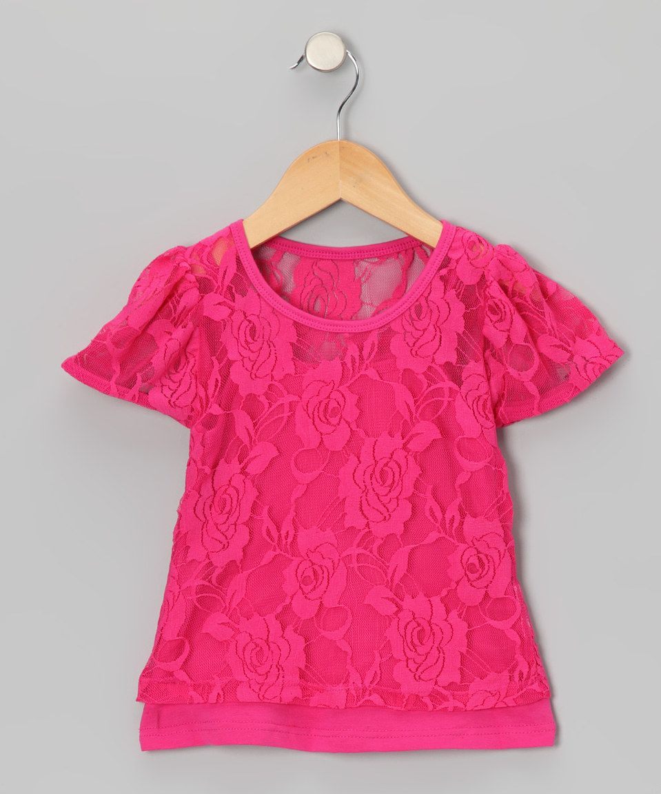 Another great find on #zulily! Share n' Smiles Hot Pink Lace Tee & Camisole - Toddler & Girls by Share n' Smiles #zulilyfinds