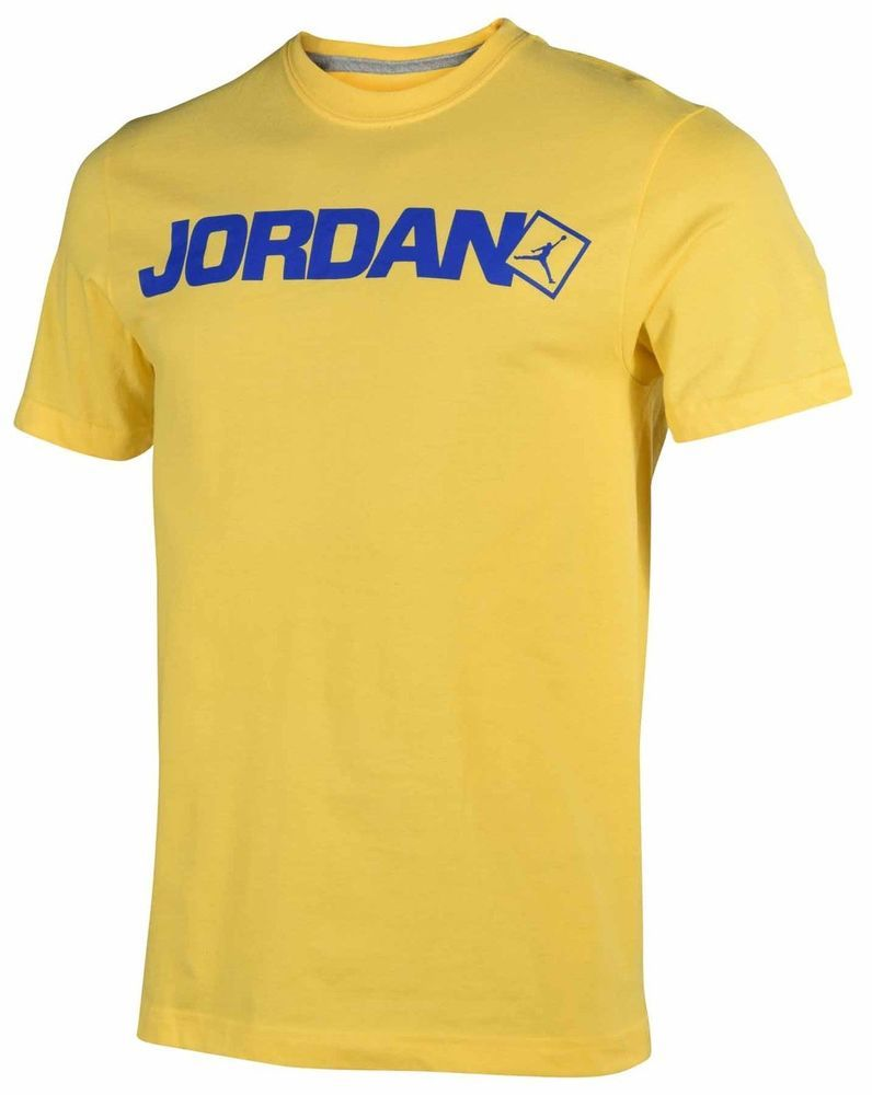 6d8f9f5e8 MEN S SIZE 3XL NIKE AIR JORDAN T-SHIRT GOLD BLUE 100% AUTHENTIC JUMPMAN  LOGO NEW  NIKE  GraphicTee
