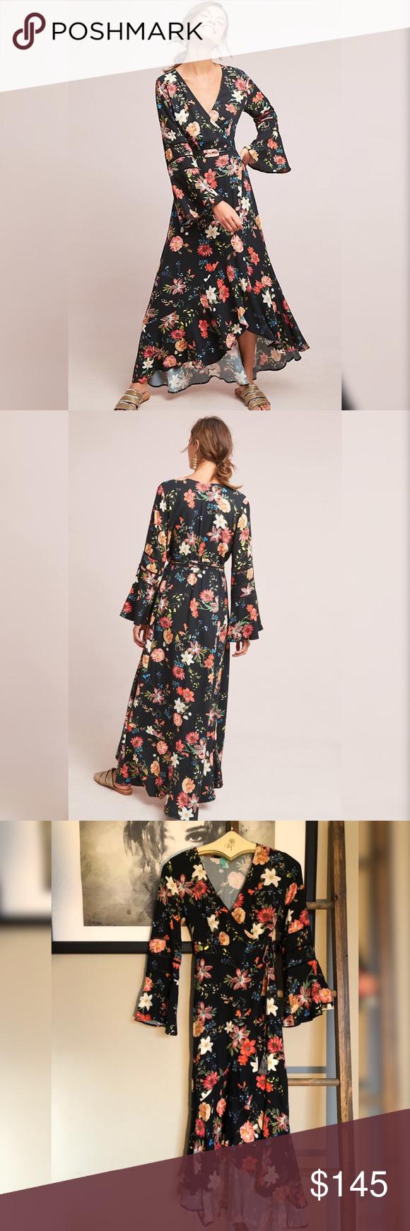 958bb628d233c Anthropologie Farm Rio Summer Flower Wrap Dress What began as a handful of  goods at a