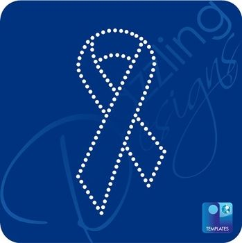T Cancer Ribbon Template | Cancer Awareness Ribbon Rhinestone Template T 035966 Stencil