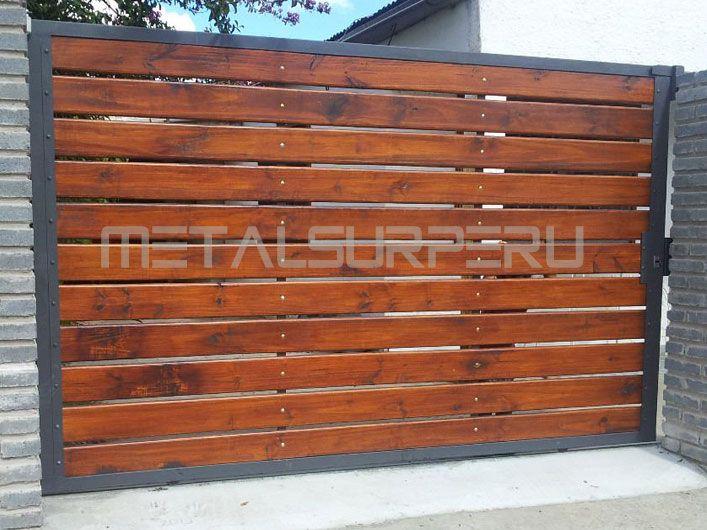 Portones de madera recherche google portail cloture for Portones de madera modernos