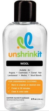 Unshrinkit For Unshrinking Fav Wool Sweaters Cleaning Tips