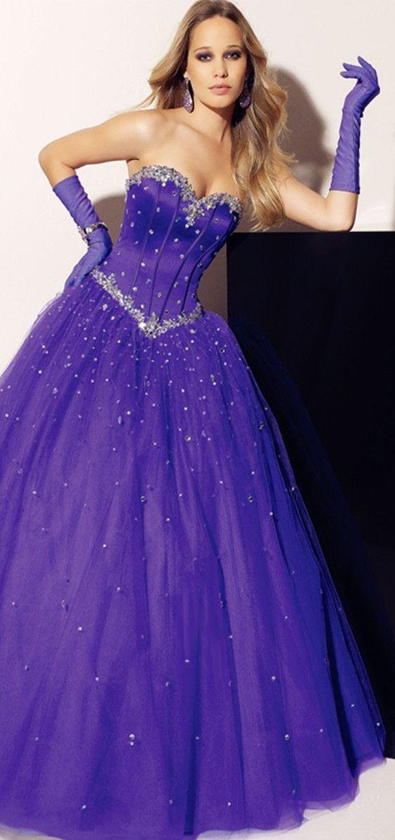 ball gown prom dress   Purple!!!!!!!   Pinterest   Chorradas ...