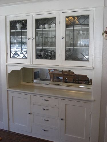 Here Is The Original Dining Room Built In Looks Like Hardware Has Been Replaced