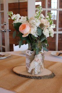 Prairie Sage Vintage: Wedding Decor embellished mason jars