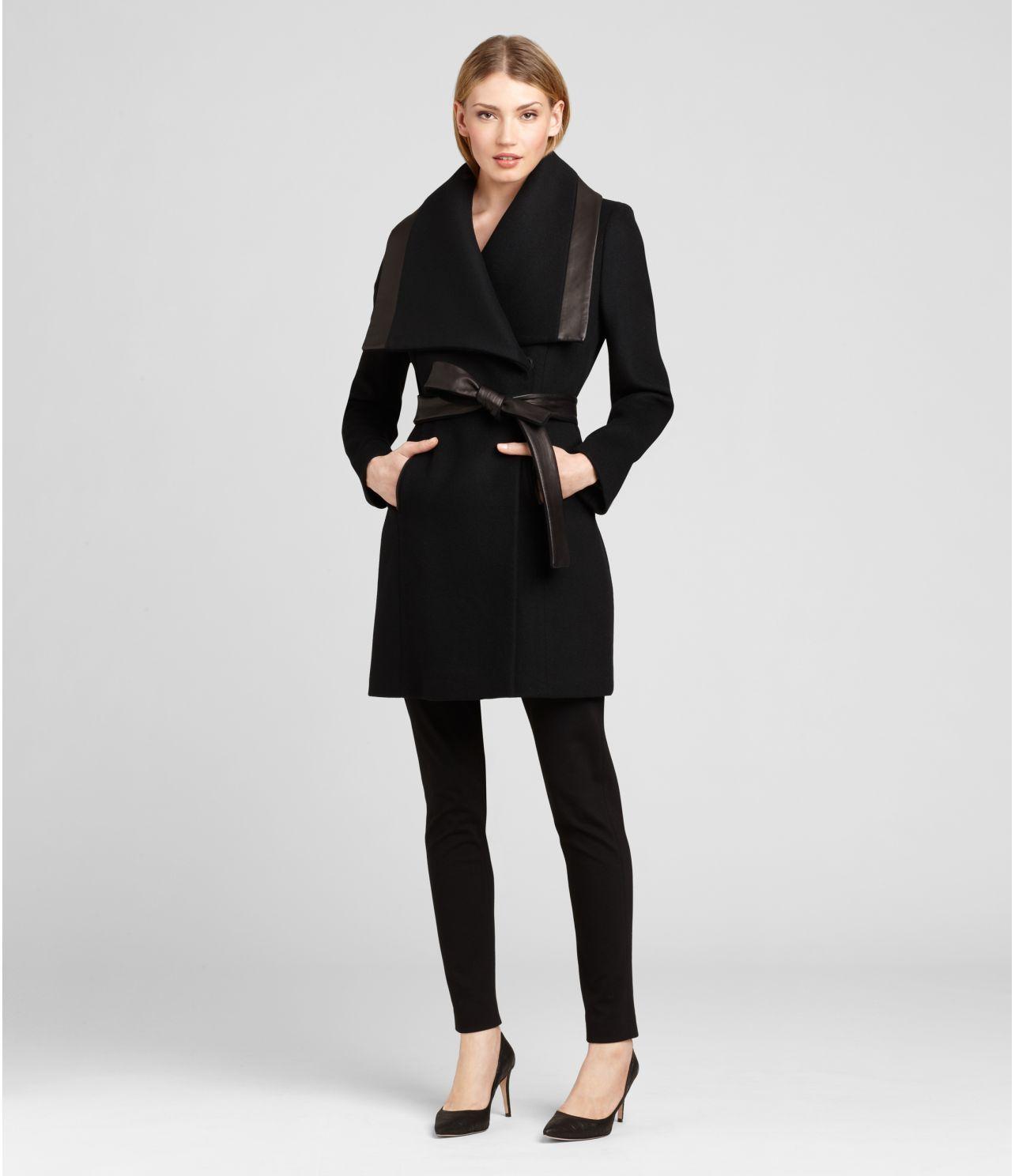 Marina Coat Black | Women's Outerwear | Elie Tahari