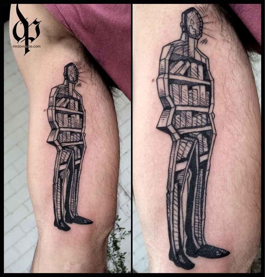 Bookshelf Silhouette | MrDavidPoe | Tattoo Artist | Austin, TX ...