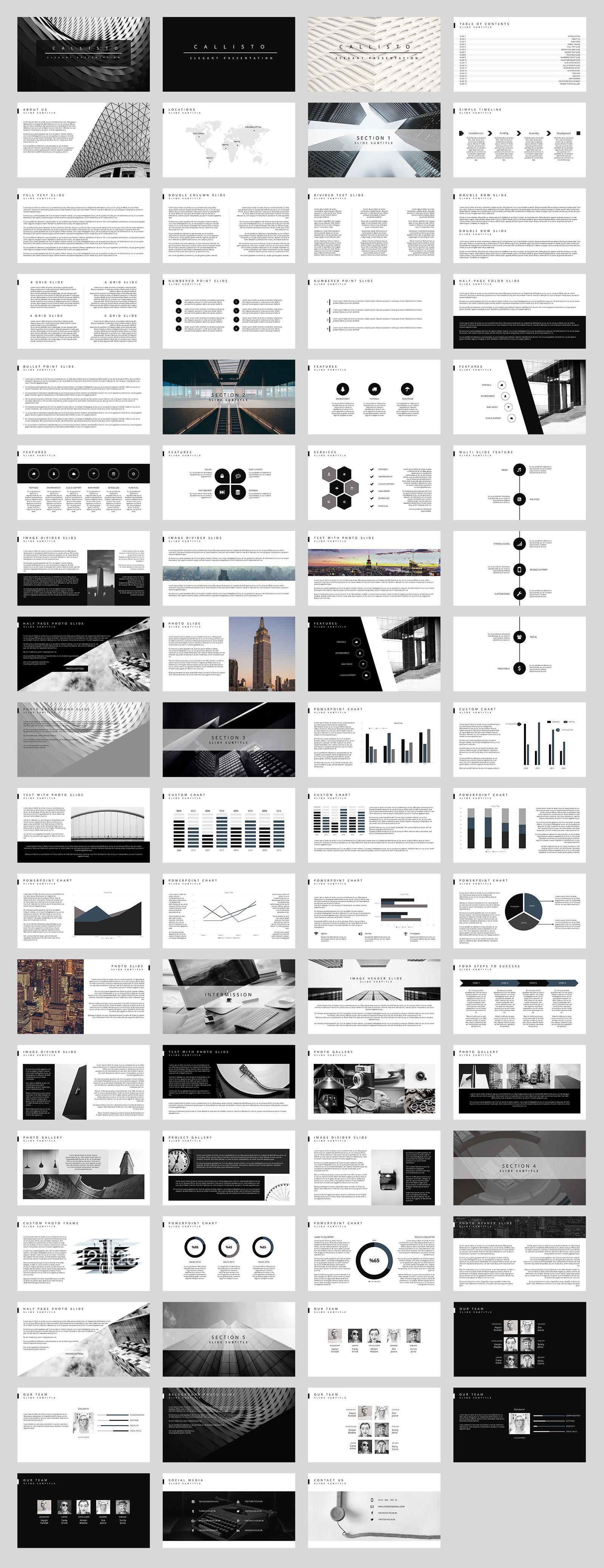 callisto powerpoint template - presentations