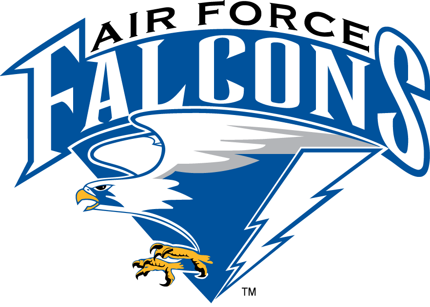 air force falcons primary logo 1995 falcon with lightning bolt rh pinterest com Auburn University Football Auburn College Logo