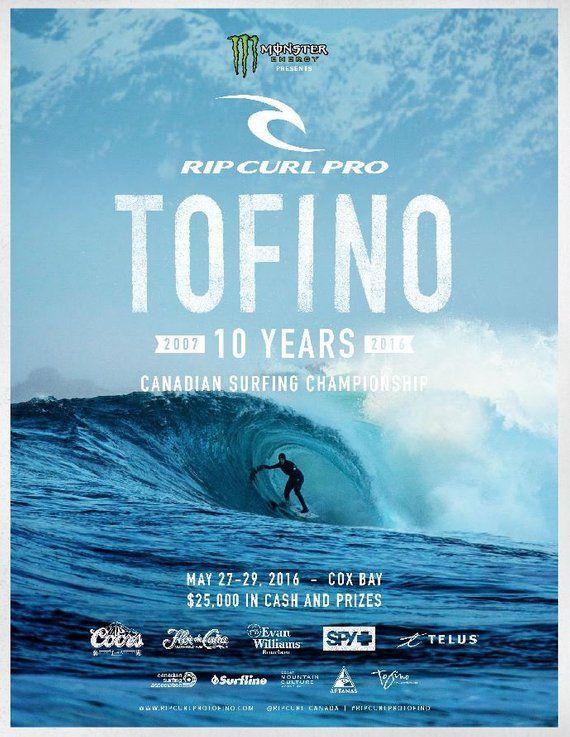 419c0da72617c1 2016 RIP CURL PRO Tofino Surfing Competition Print - Surfing Poster ...