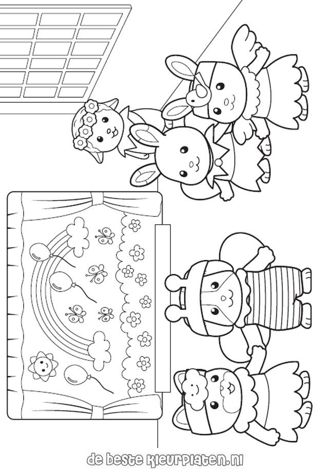 Calico Critters Coloring page SylvanianFamilies005 Alice May