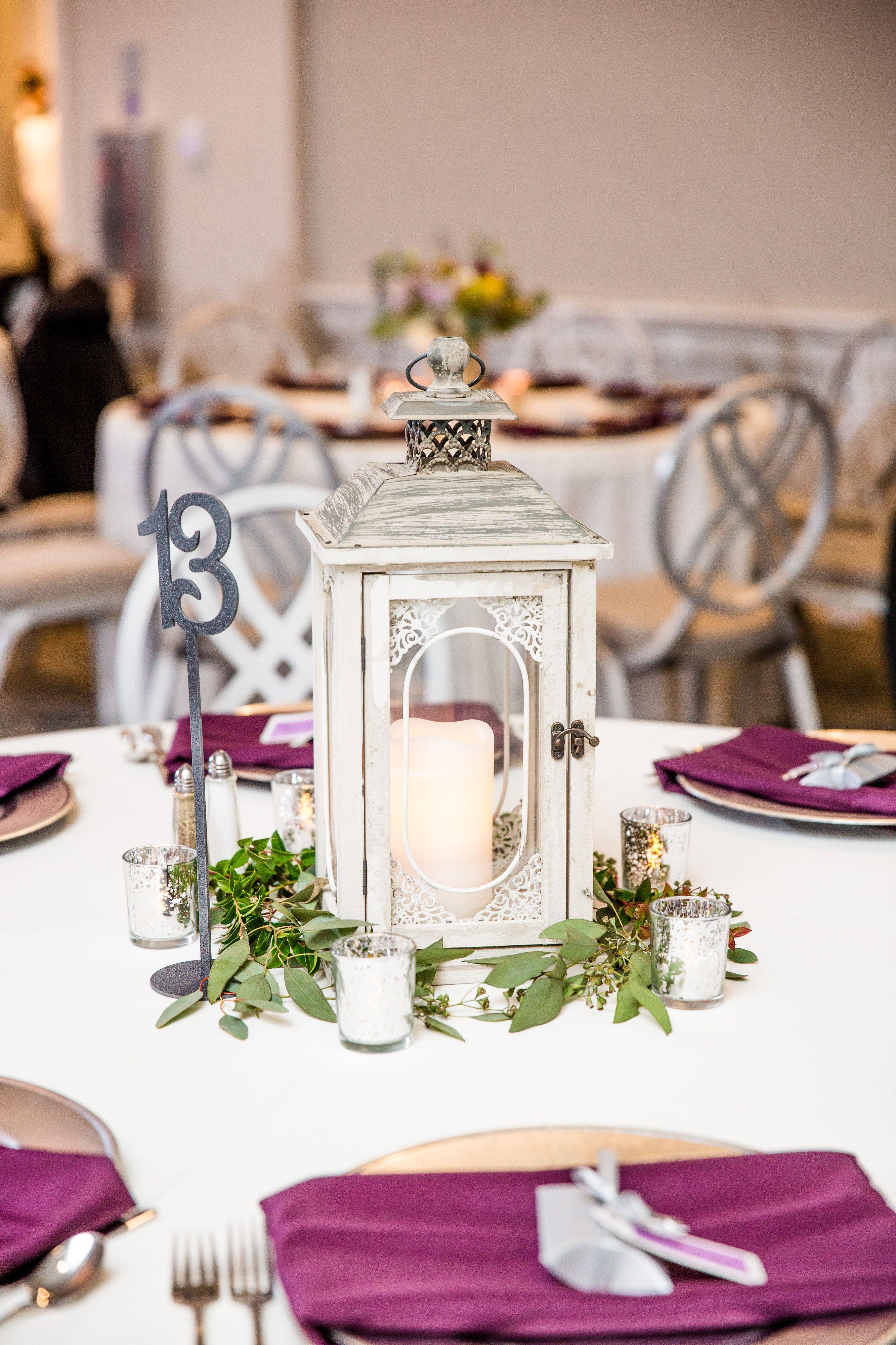 Get The Look Classy White Lantern Wedding Centerpiece Silver