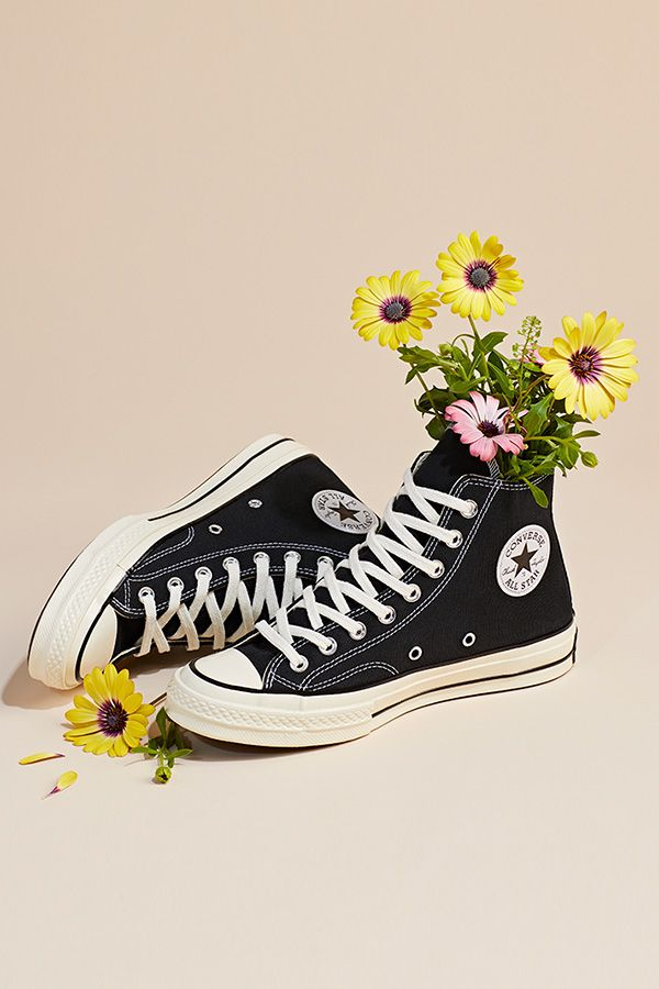 shoes, allstars, converse, floral, flowers, girly, fashion