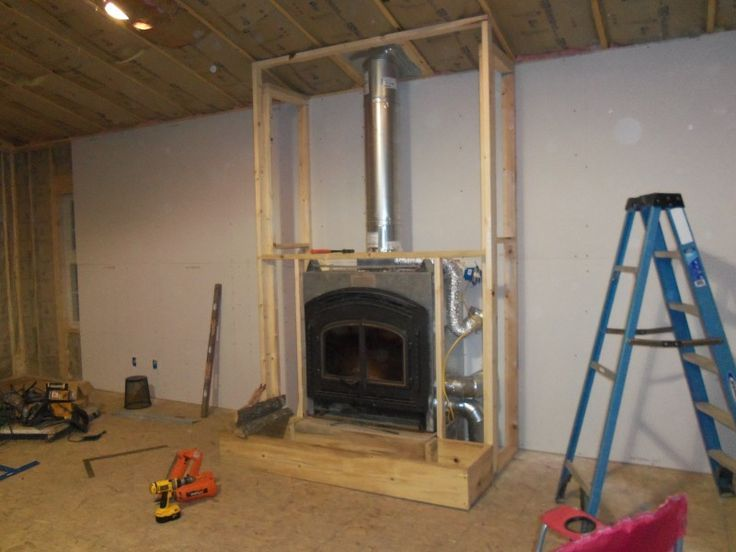 Image Result For Pellet Stove Insert Clearencess Vented From Back Small Basement Remodel Stair Remodel Basement Remodeling