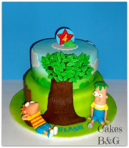 Phineas and Ferb birthday cake  Cake by cakesbg