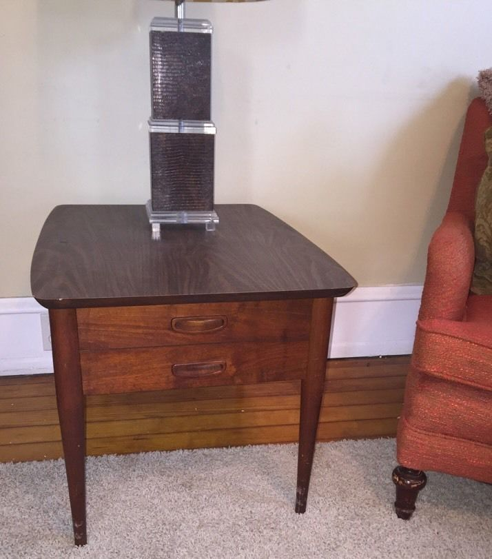 Best Mid Century Modern Lane Walnut End Table Night Stand With 400 x 300