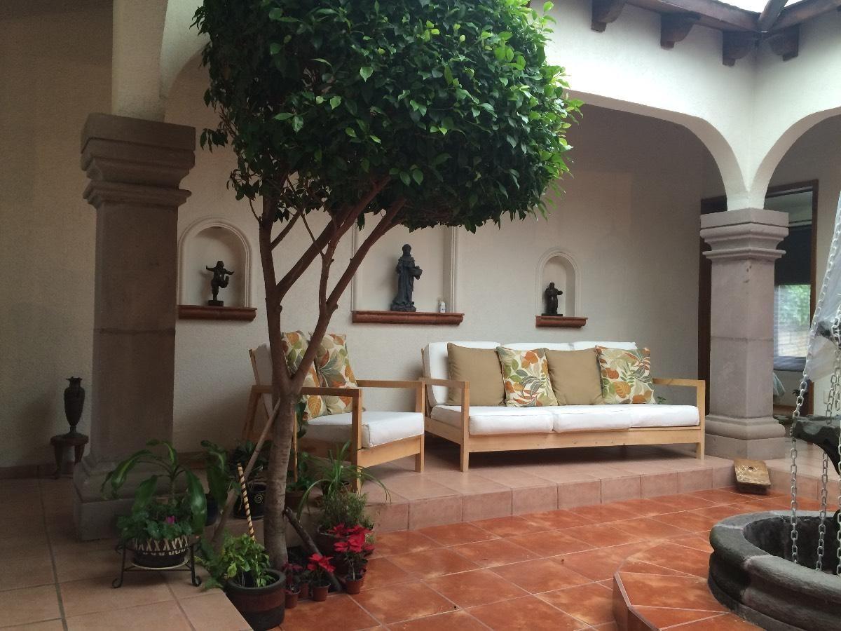 Innenhof Spanischer Häuser acogedora casa tipo hacienda mexicana en una sola planta en