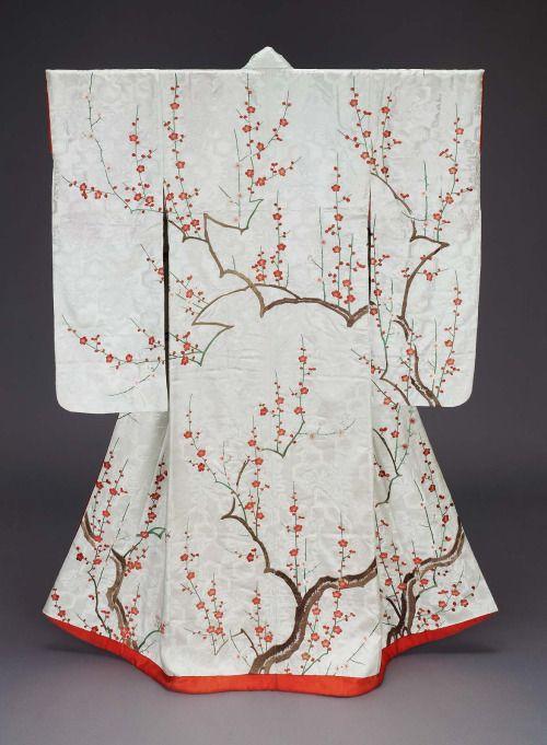 Ephemeral Elegance Furisode Kimono Edo Period 19th