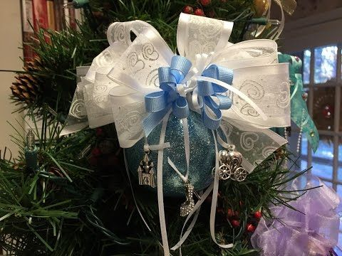 How to make a Cinderella Christmas Ball Ornament Tutorial - YouTube