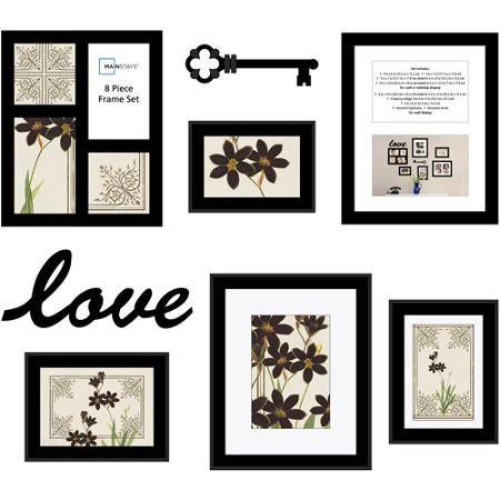 mainstays 8 piece love frame set