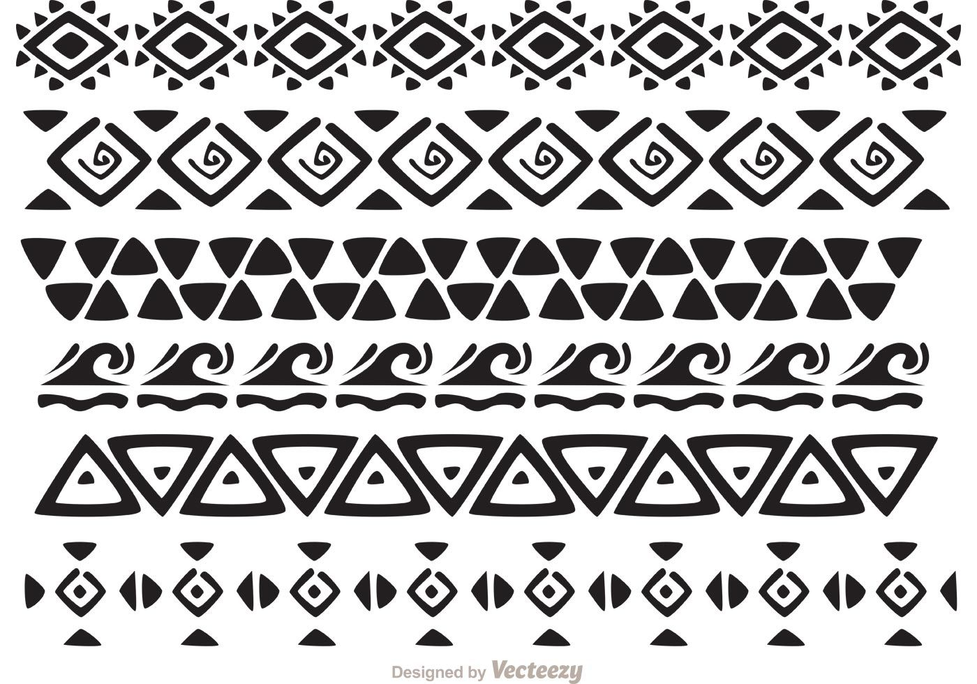 1cda926832f05 Hawaiian Tribal Pattern Vectors Pack 2 - another awesome Hawaiian tribal  pattern pack with tribal border vectors, geometric patterns, and more.