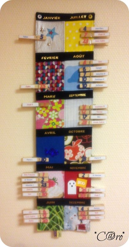Pour mes collègues - C@rou0027scrap Perpetual calendar, Craft and