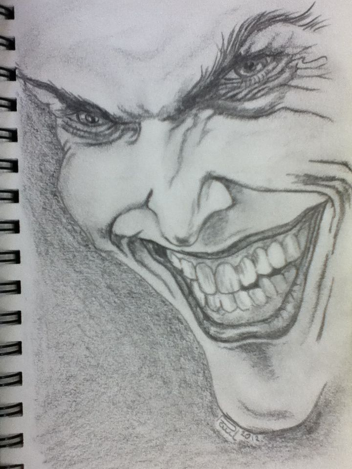 The joker sketch of a sketch on a5 paper