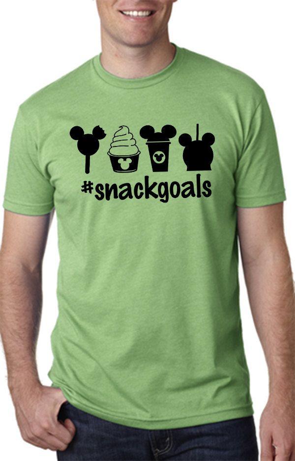 Hashtag Snack Goals Tshirtdisney Snack Shirtdisney Tshirtmens