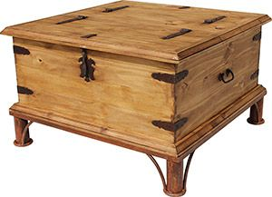 Use This Square Piece Of Mexican Rustic Furniture As A Coffee