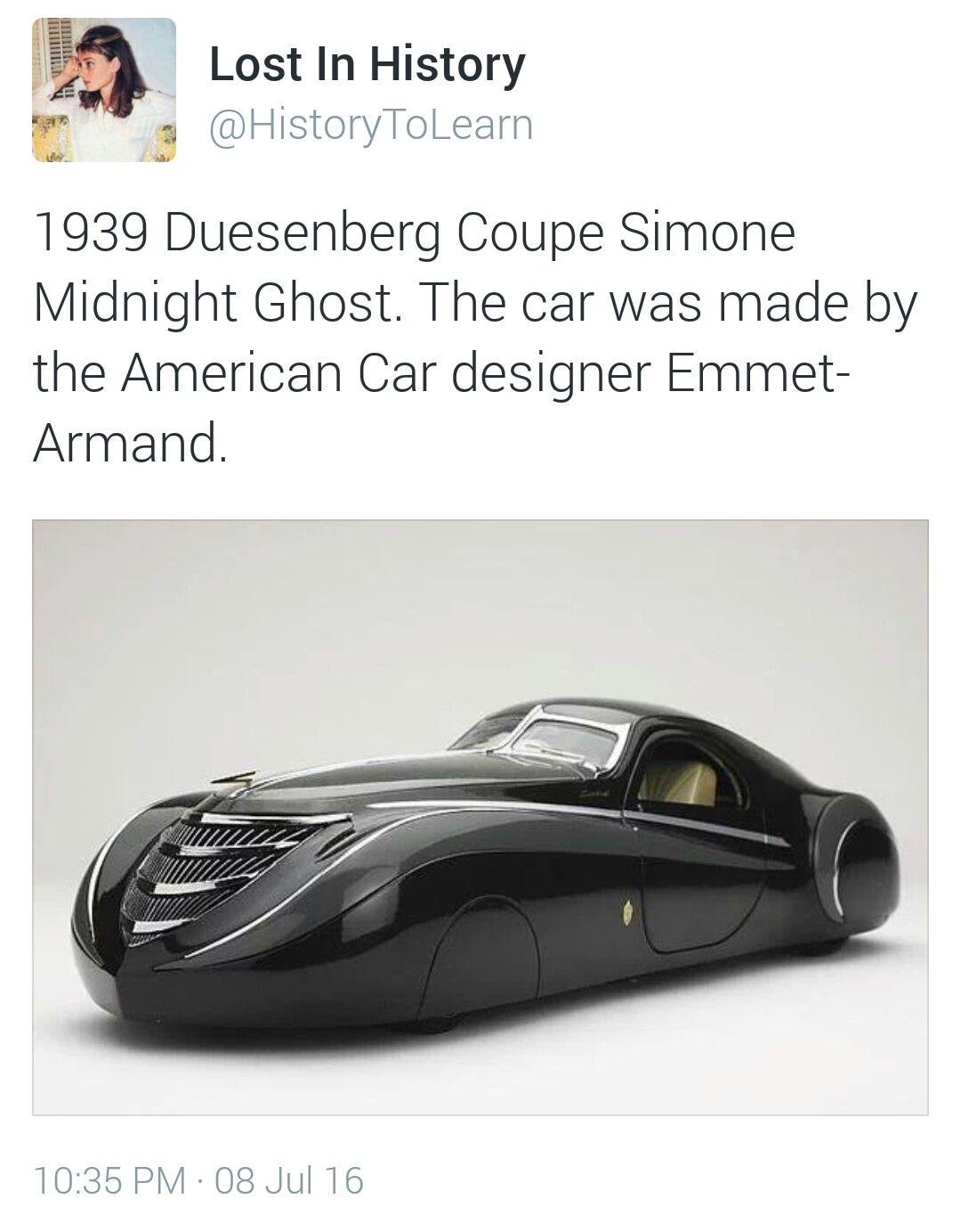 Duesenberg Coupe Simone Midnight Ghost : duesenberg, coupe, simone, midnight, ghost, Airstreams, Coupe,, Design,, Sports