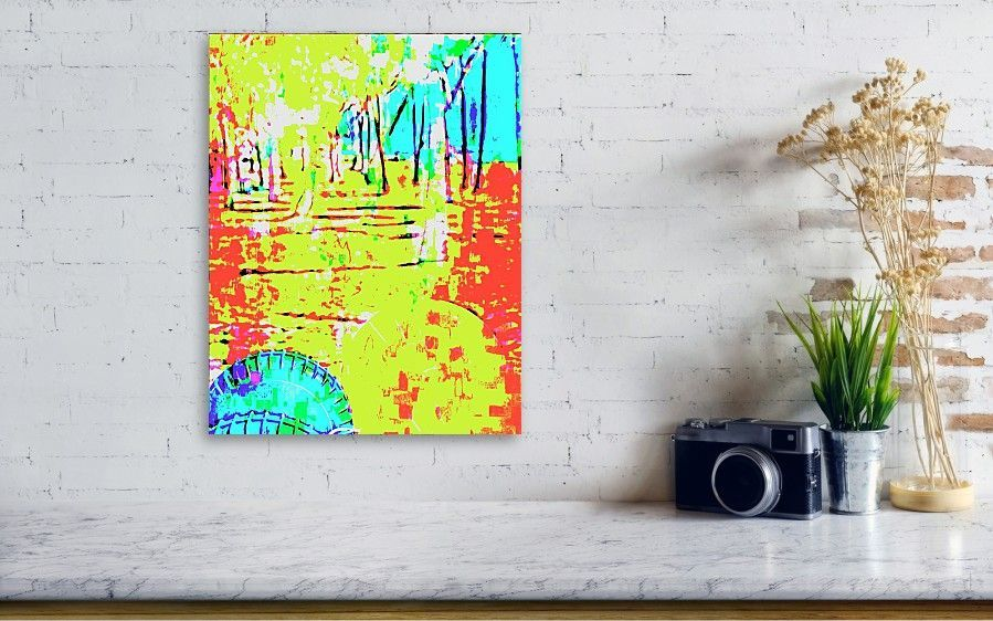 Palm Trees Abstract Canvas Print / Canvas Art by Bob Pardue. Cheer yourself up with this colorful pastel abstract picture on canvas. Perfect gift idea too! #abstractphoto #pastelphoto #photosforsale #canvasprint #homedecorideas #wallart #artwork
