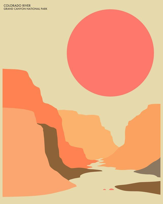 Grand Canyon Graphic Art #graphicdesign