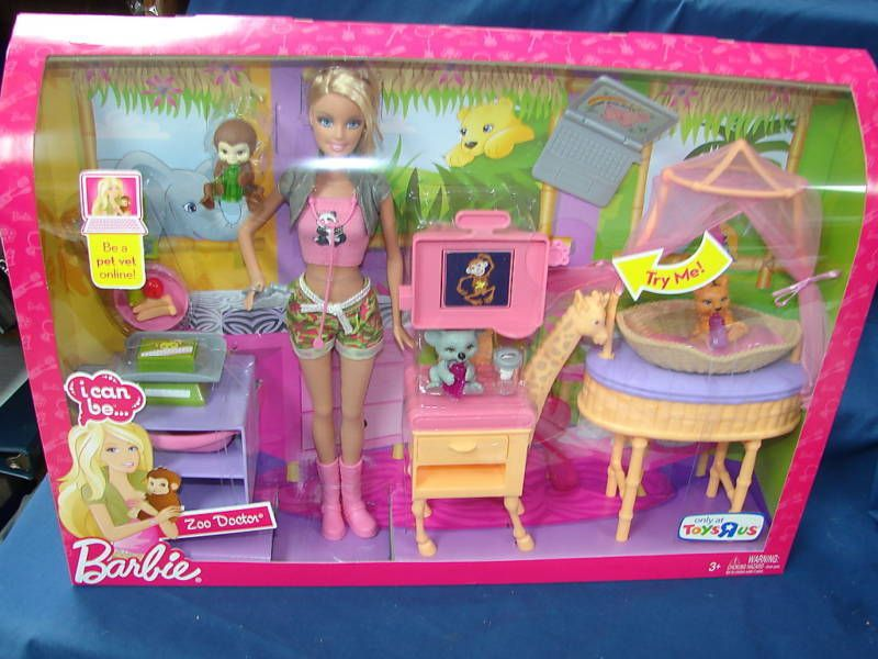 2009 Barbie I Can Be A Zoo Doctor New In Box Dolls Bears