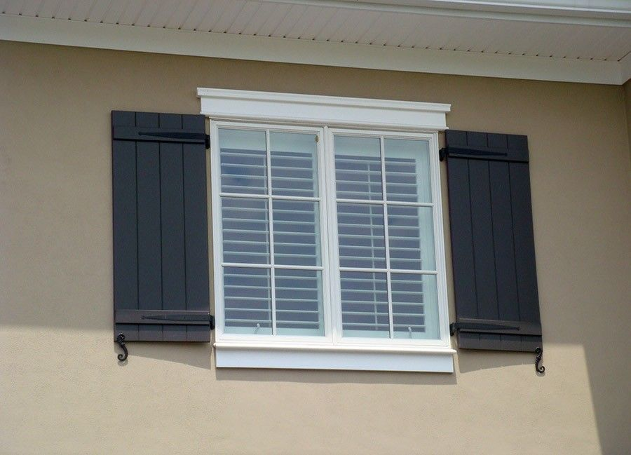 Spanish style exterior shutters google search exterior for Spanish style window shutters