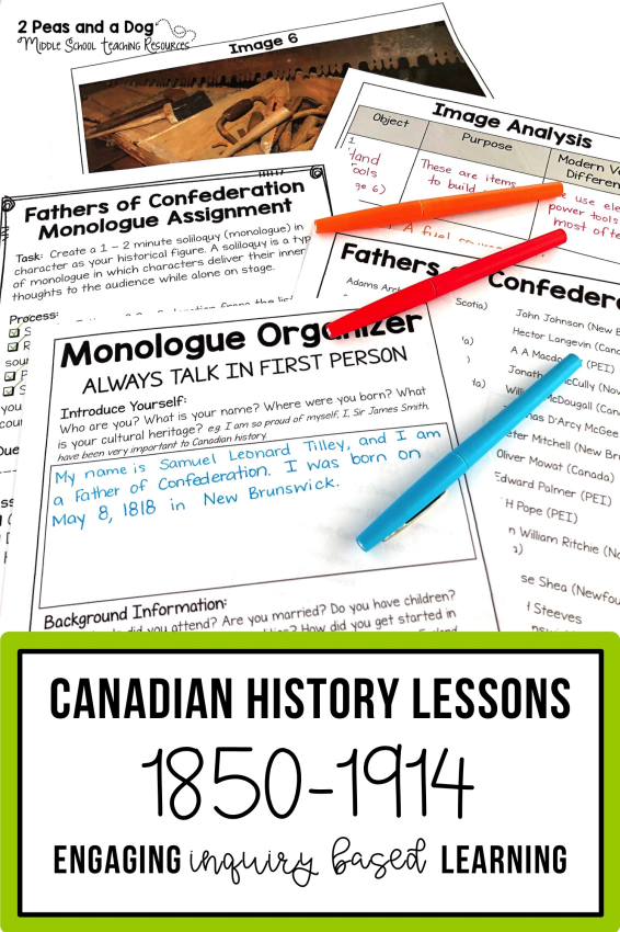 Grade 8 History Bundle Confederation Western Settlement And Changing Society Bundle In 2020 Ontario Curriculum History Lesson Plans Middle School History Lessons